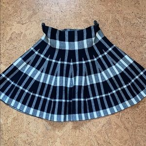 Plaid Grunge Circle Skirt